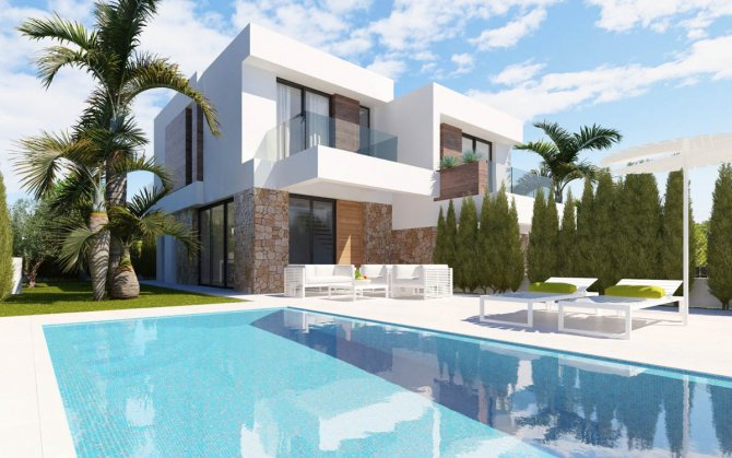 Stunning townhouses with private pools and sea views