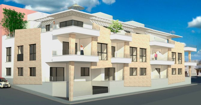 Modern apartments 50m from the beach with lovely sea views