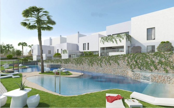 Modern apartments with communal pool close to 2 golf courses