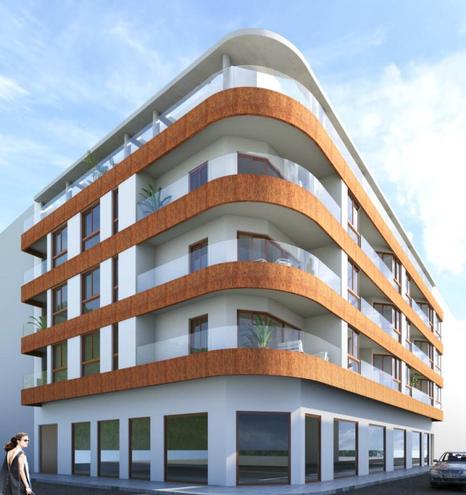 Modern apartments 150m from the beach with roof top pool