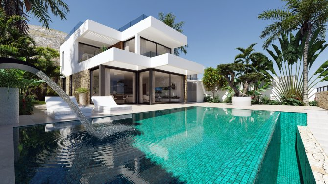 Stunning detached villas with private pools and sea views