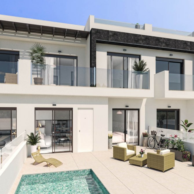Bright and airy townhouses located in San Pedro del Pinatar