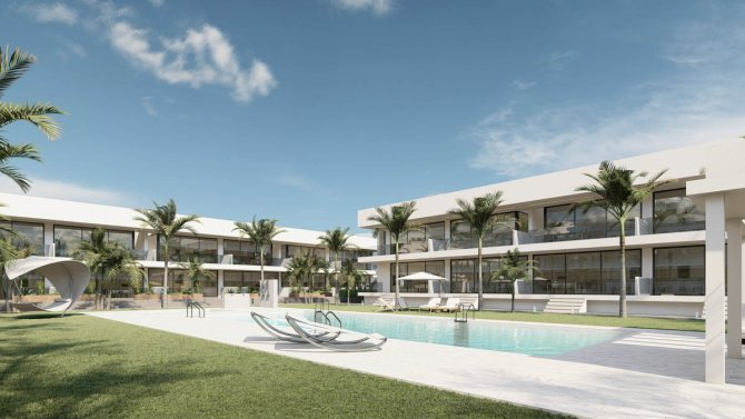 Stylish modern apartments walkable to the beach and Mar Menor