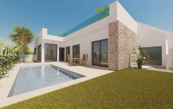 Stunning bungalow style villas with private pool and solarium