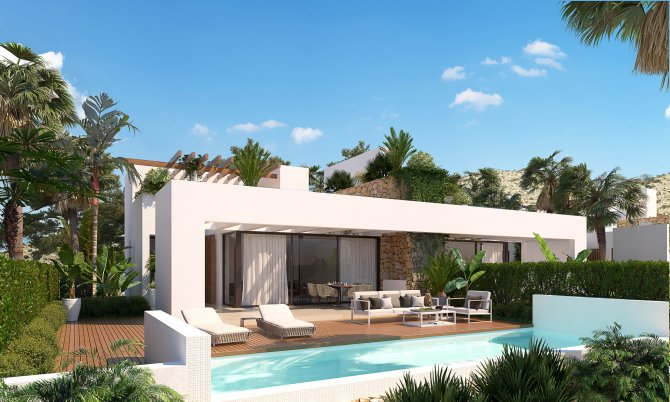 Beautiful semi detached villas overlooking 18 hole golf course