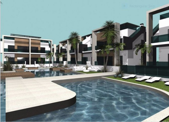 Stylish apartments with communal pool in El Raso