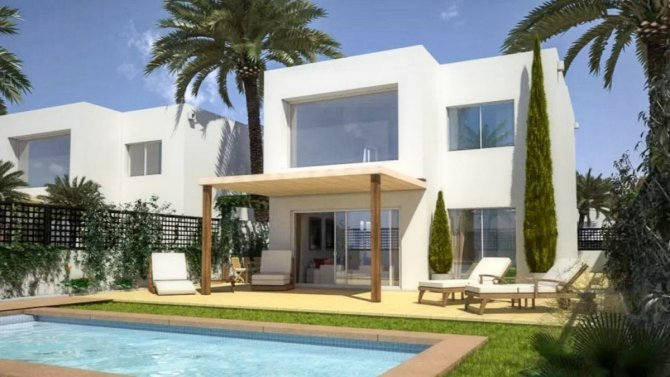 High quality modern style villas 400m from the beach