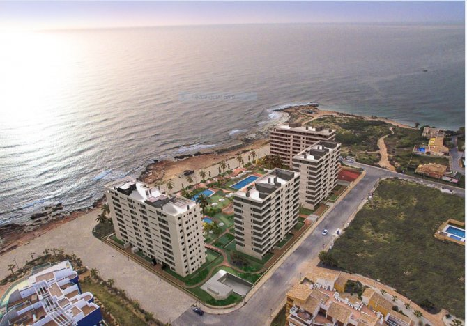 Beach frontline apartments with spectacular sea views.
