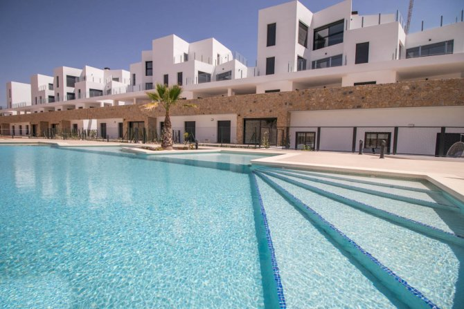 Luxury apartments with communal pool