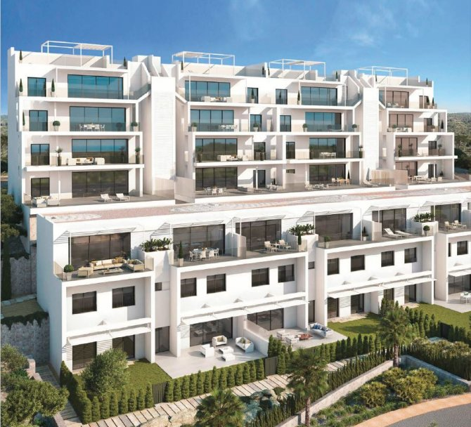 Luxury south facing Golf Apartments with Panoramic Views