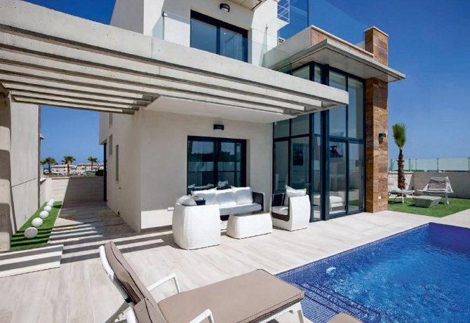 Modern villas with private pool