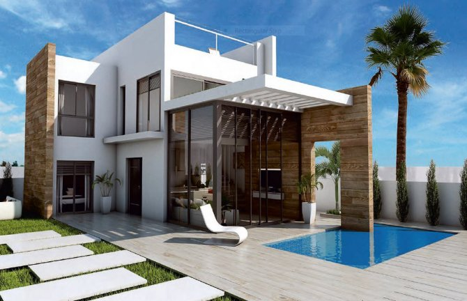 Contemporary design villas with private pool and sea view