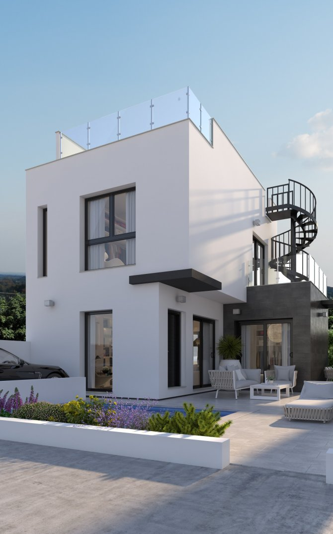 Lovely modern villas with private pool and fantastic views