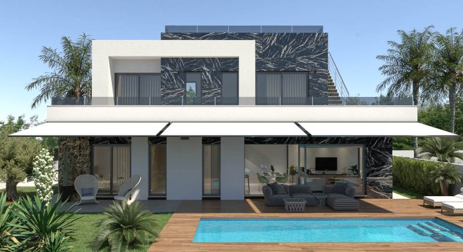 Stunning modern design villas with private pool and optional basement