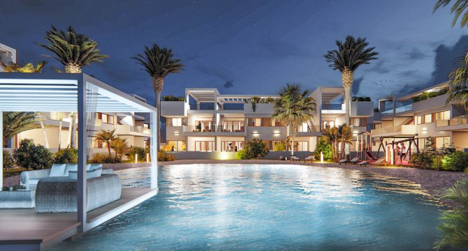 Spacious apartments with communal pool and garage and storage option