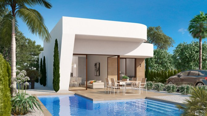 Luxury bespoke spacious villas with private pool option close to all amenities