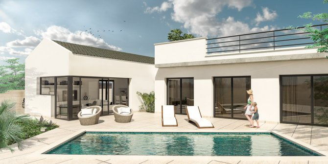 Beautiful 3 bedroom detached villas with private pool, and private solarium