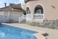 Spacious villa, one level, private heated pool two minutes' walk to the high street (24)