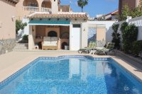 Spacious villa, one level, private heated pool two minutes' walk to the high street (26)