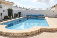 Spacious villa, one level, private heated pool two minutes' walk to the high street (25)