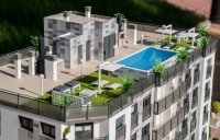 Stunning new apartments with sky lounge pool area