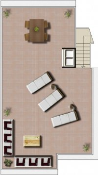 2 bed/2 bath high quality apartments with communal pool. (9)