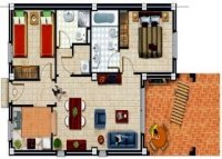 2 bed semi-detached apartments with communal pool  (17)