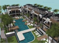 Stylish townhouses with communal pool in El Raso (1)
