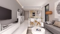 Stylish modern apartment complex with gym and spa area (3)