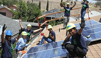 We identify local projects such as GRID Alternatives's Solar Panels for Safe Place for Youth 2017 GRID Alternatives for Safe Place for Youth Campaign that help reduce atmospheric CO2 to fight global warming and climate change in Venice, CA