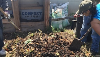 We identify local projects such as LA Compost's Neighborhood Compost Hub  Build a Compost Hub in Ernest Debs Park that help reduce atmospheric CO2 to fight global warming and climate change in Lincoln Heights, CA