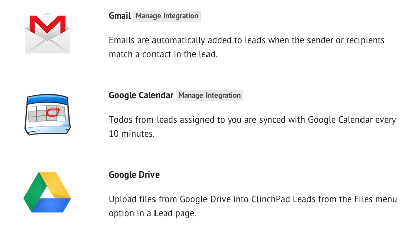 Google Apps Integration CRM