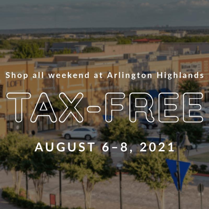 Shop Tax-Free at Arlington Highlands!