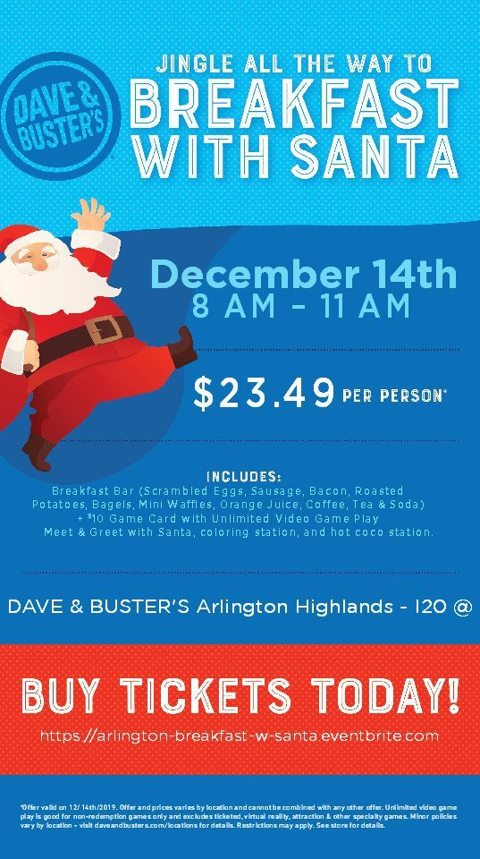Breakfast with Santa on December 14th!