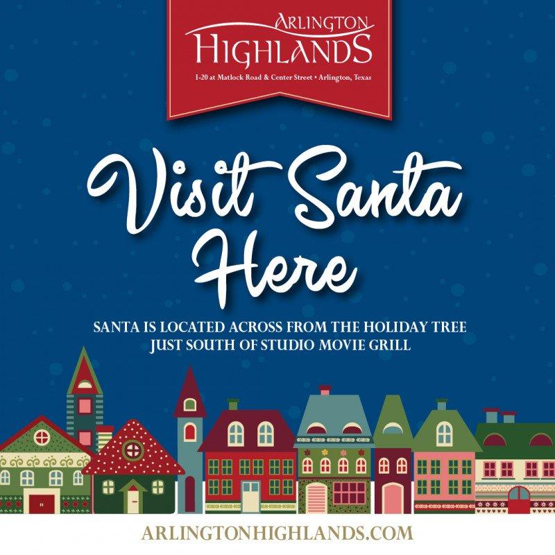 Visit Santa at Arlington Highlands