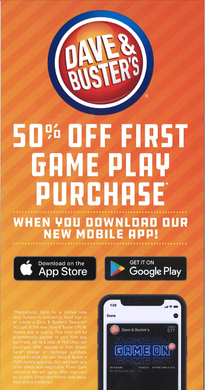 Introducing the Dave & Buster's Mobile App!
