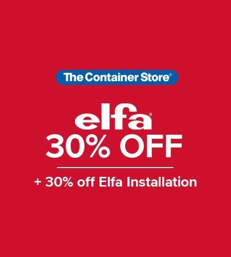 Save 30% on everything Elfa
