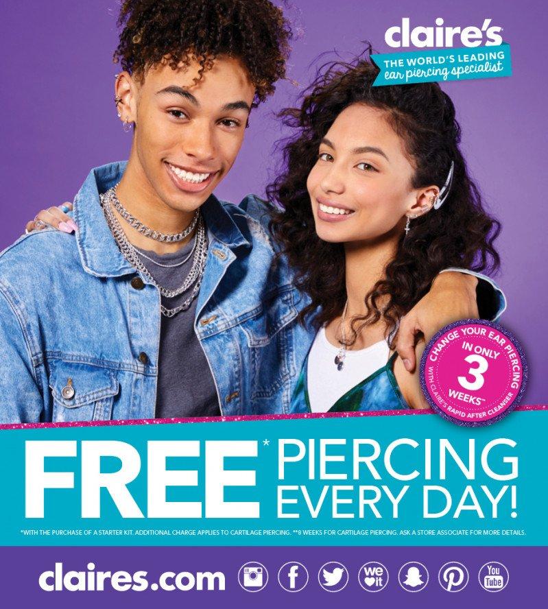Free Ear Piercing Everyday!