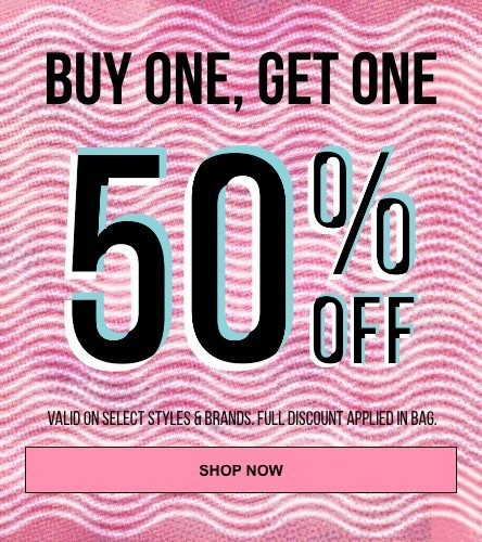 Buy One Get One 50% off on select items