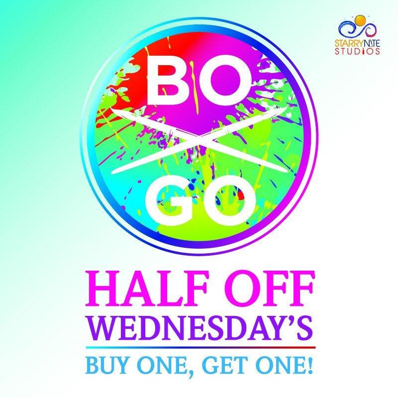 Half Off Wednesdays!