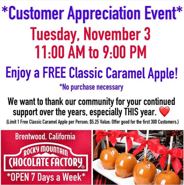 Free Caramel Apples