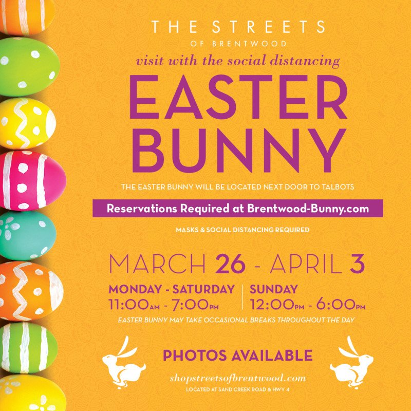 Visits with the Social Distancing Easter Bunny