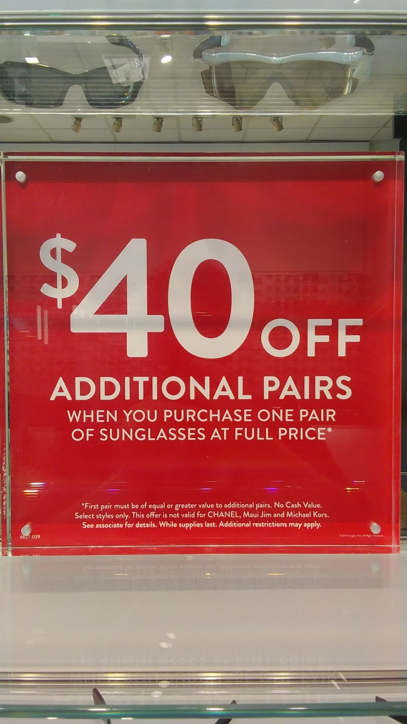 $40 off additional pairs