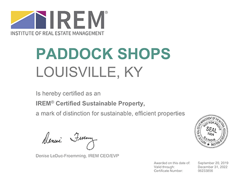 Paddock Shops IREM