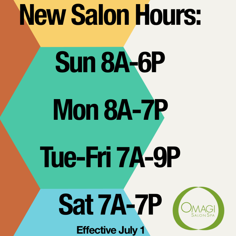 New Salon Hours
