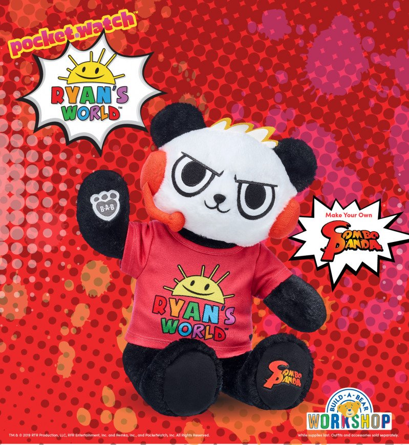 Ryan's World™ Fans! Make Your Own Combo Panda™ at Build-A-Be