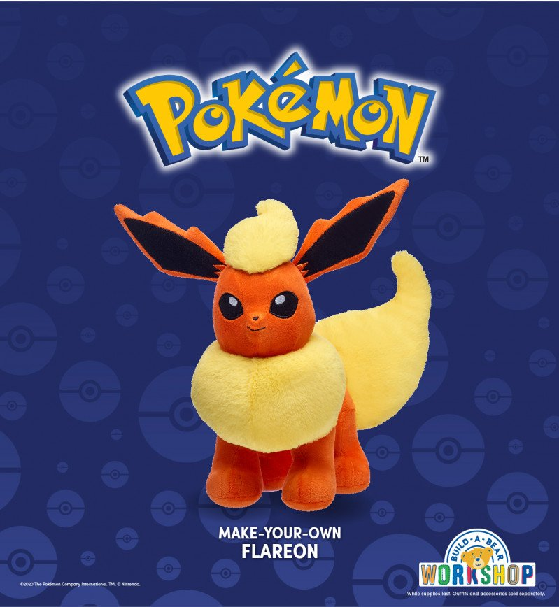 Pokémon Trainers! Warm Up this Winter with Flareon at Build-