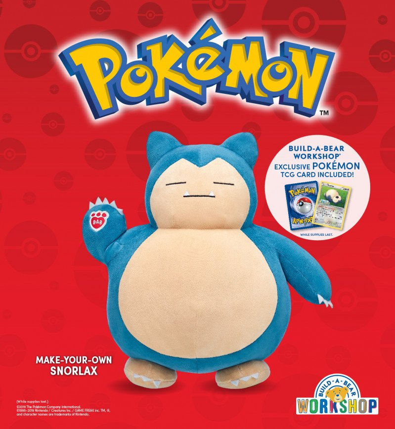 Wake Up, Pokémon Trainers! Snorlax Is Now at Build-A-Bear Wo