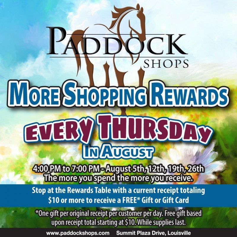 More Shopping Rewards at Paddock Shops!