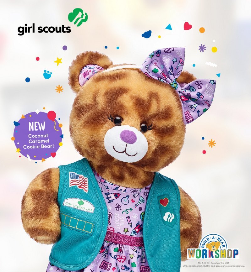 Make Your Own Coconut Caramel® Cookie Bear at Build-A-Bear W